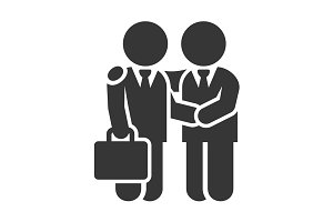 Business Man Handshake Icon
