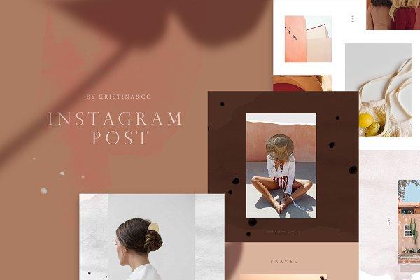 Social Media Templates: Kristina&Co - Modern Instagram Post
