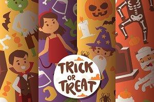 Halloween kids costume trick or trea