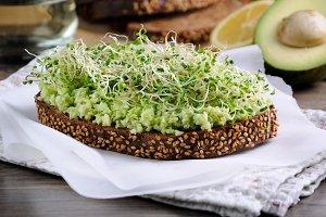 Sandwich  alfalfa sprouts