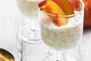Two glasses with a useful yogurt