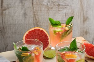 Cocktail of grapefruit