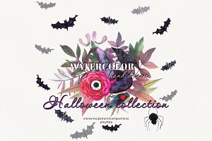 Watercolor set Halloween сollection