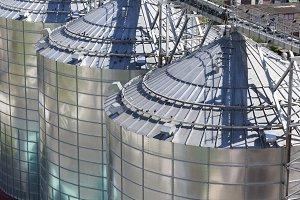 steel silo close up
