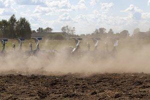 arable field dust