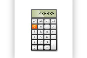 Metallic office calculator. excellen