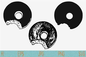 donut svg set vector png eps