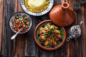 Morrocan cuisine chicken tajine
