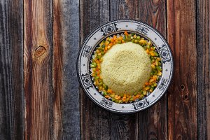 Couscous in traditional moroccan