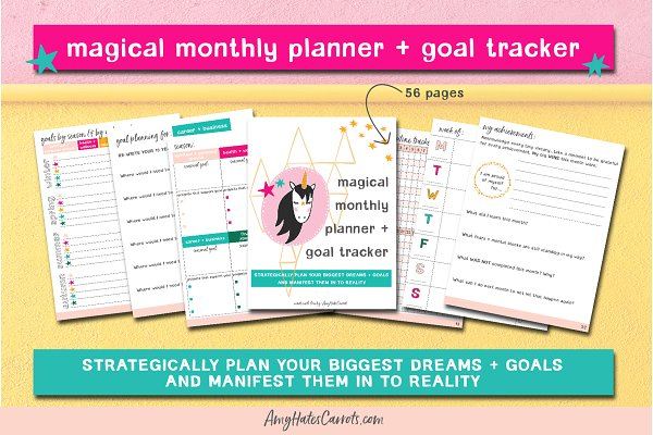 Printable Planner + Goal Tracker
