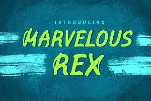 Marvelous Rex ǀ 4 Fonts