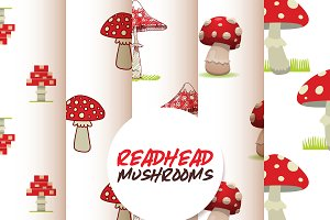Vector amanita mushrooms pattern