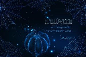 Halloween. Glowing vector design