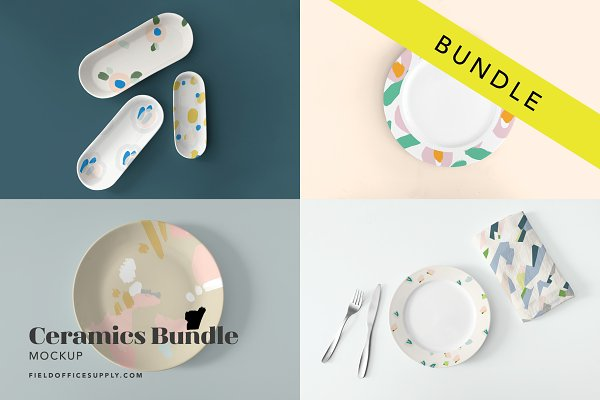 Product Mockups: Field Office Mockups - Ceramics Mockup Bundle