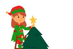 Santa Claus elf kids cartoon elf