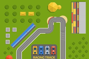 Race car sport track curve road