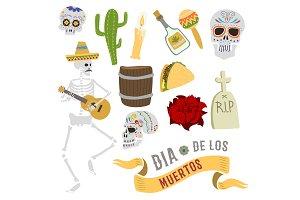 Dia de los muertos Mexica Dead Day