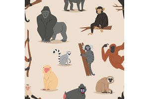 Cartoon monkey character animal wild
