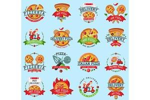 Pizza italian restaurant vector logo