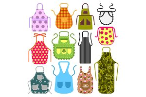 Food cooking apron kitchen design