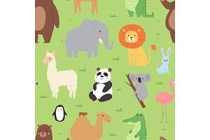 Cartoon animals wildlife wallpaper