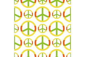 Vector peace symbol made of hippie