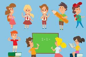 Vector schoolkids back to school