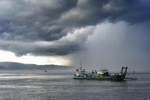Ferry Java-Bali. Indonesia