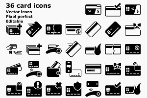 Glyph Card and payment icons