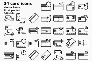 Outline Card and payment icons