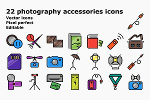 Colored outline photography accessor
