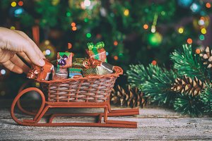Christmas home decoration with small