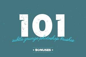 101 Subtle Grunge Brushes + Bonuses