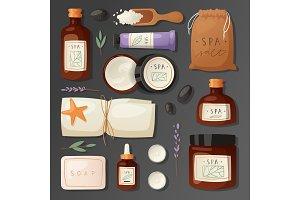 Cosmetics spa branding pack mockup