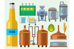 Beer brewing process alcohol factory