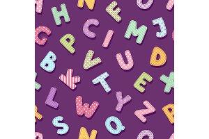 Patchwork alphabet typography