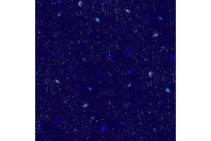 Galaxy cosmic space illustration