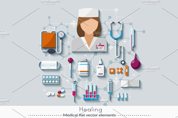 Set of medical elements 5.0 - Graphics