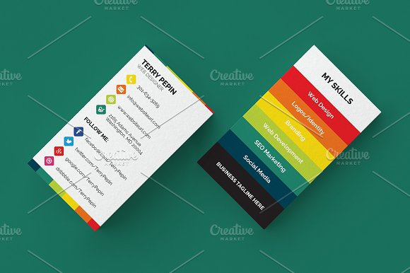 Social media business card 61 business card templates creative social media business card 61 business card templates creative market colourmoves