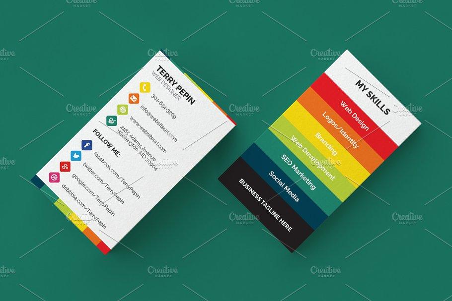 social media business card 61 business card templates creative