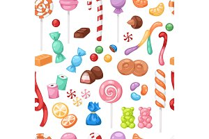 Cartoon sweet bonbon sweetmeats