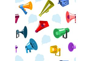 Megaphone icons communication tool
