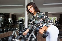 Sportive woman doing exercise