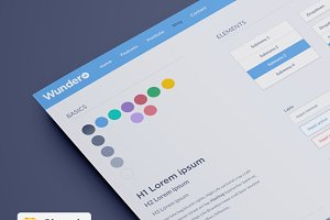 WunderUI - Sketch 3 UI template