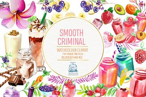 Smoothies - 133 Watercolor Clipart