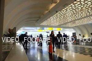 Inside Abu dhabi Airport Terminal.