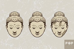 Heads of Buddha