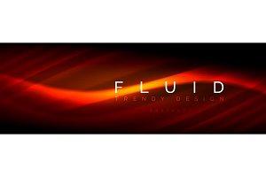Neon glowing fluid wave lines, magic