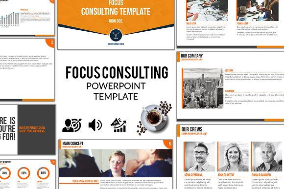 focus consulting powerpoint pptx presentation templates