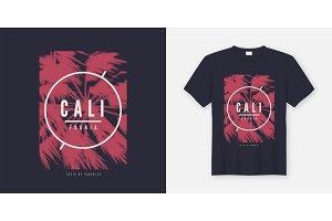 California vector t-shirt design